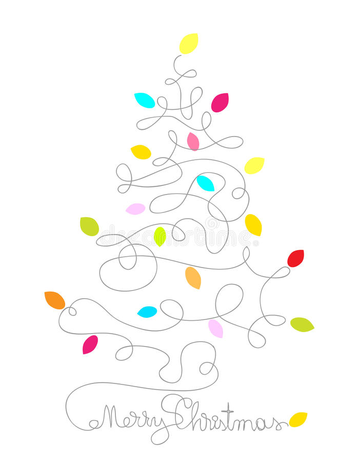 圣诞树 库存例证
