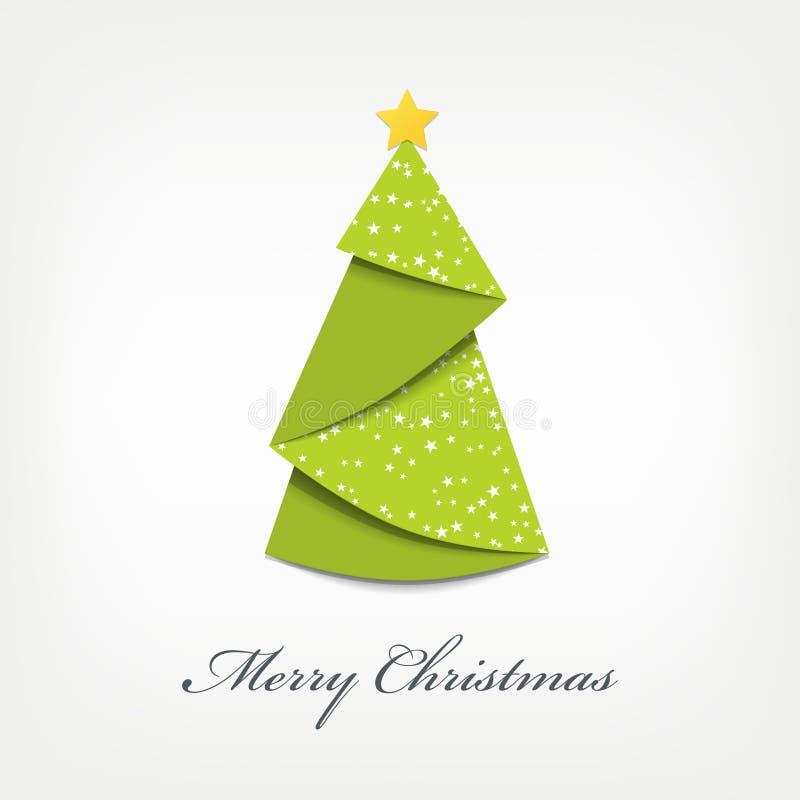圣诞树origami 库存例证