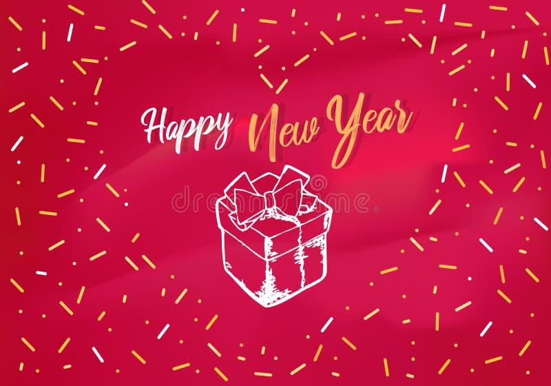 圣诞派对邀请,横幅,贺卡 与xmas图表例证的设计模板 节假日新年度 皇族释放例证