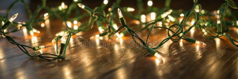 圣诞灯串 库存照片