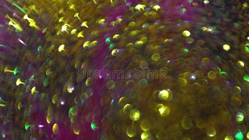 圣诞灯多彩多姿的bokeh的圆反射 免版税库存照片