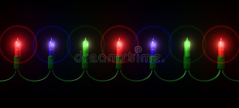 圣诞灯微型字符串 皇族释放例证