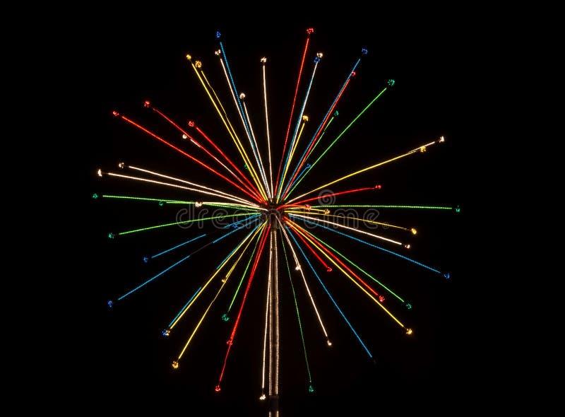 从圣诞灯的光线影响 库存例证
