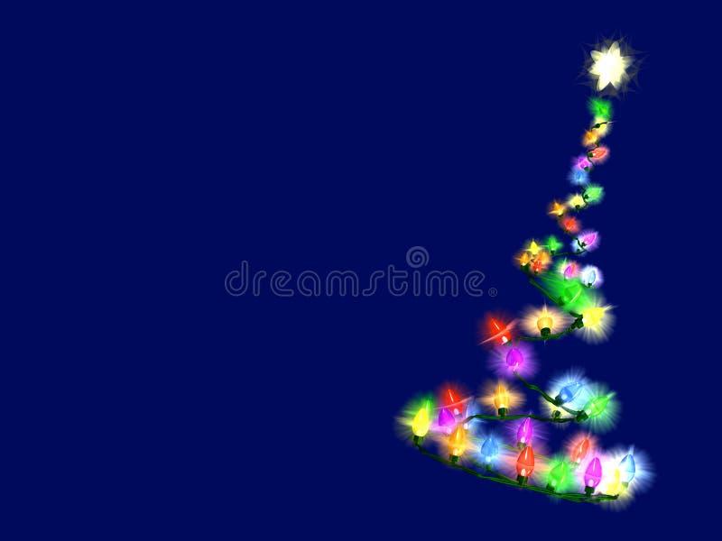 圣诞灯结构树 向量例证