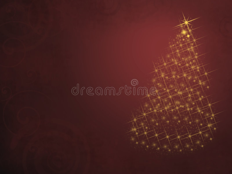 圣诞灯结构树 库存照片