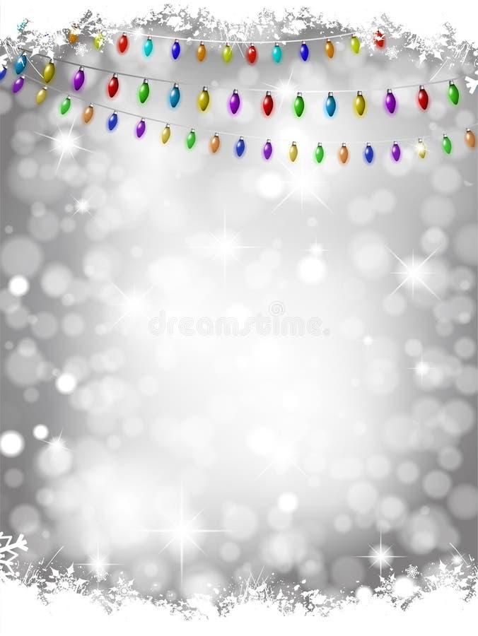 圣诞灯背景 皇族释放例证