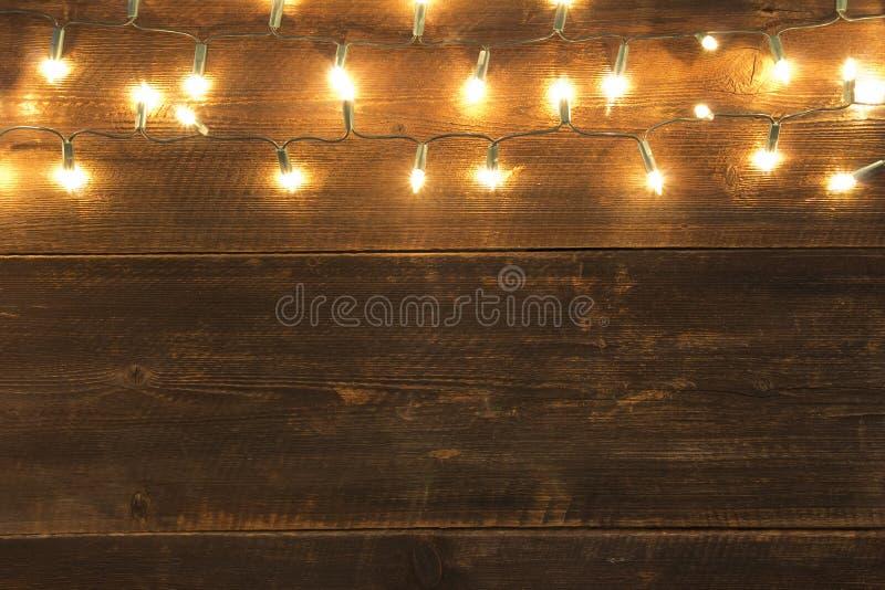 圣诞灯背景 免版税图库摄影