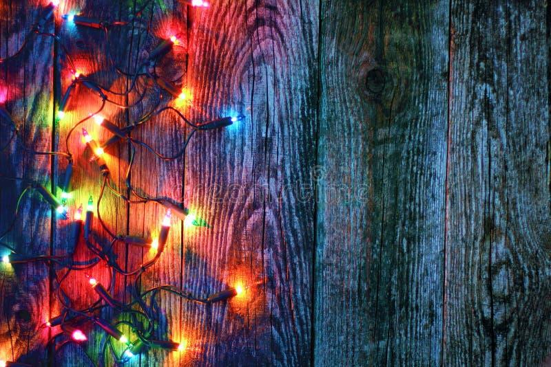 圣诞灯边界  免版税图库摄影