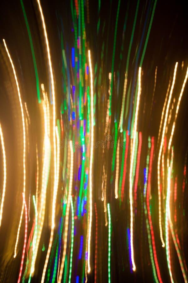 圣诞灯,未聚焦的背景 库存照片