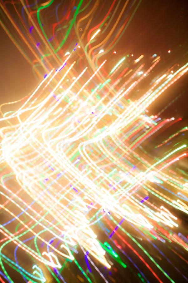 圣诞灯,未聚焦的背景 免版税库存照片