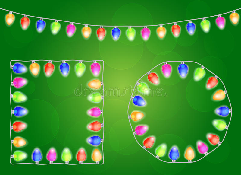 圣诞灯 向量例证