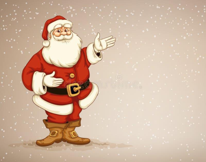 圣诞老人ï ¿显示在做广告的空的地方的½ laus 皇族释放例证
