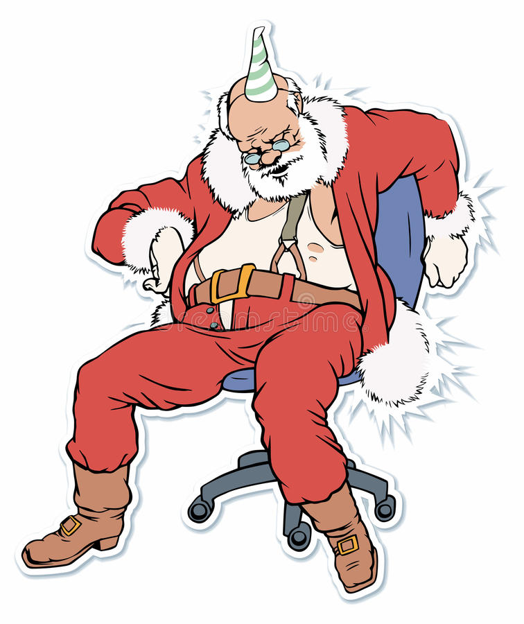 圣诞老人休眠 向量例证
