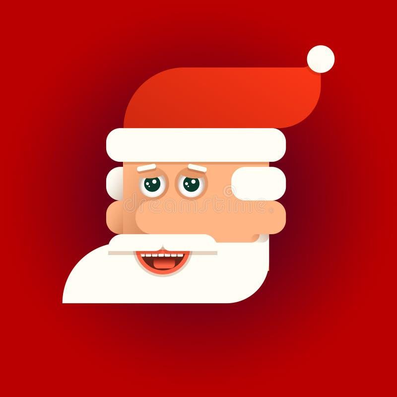 圣诞老人传染媒介例证的面孔 向量例证