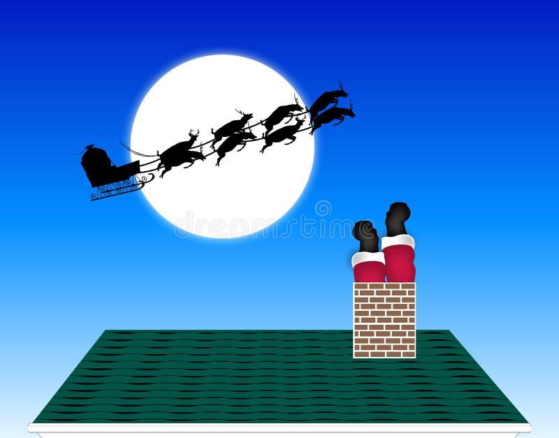 圣诞老人停留 库存例证