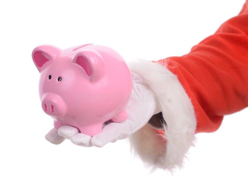 圣诞老人储款 库存图片