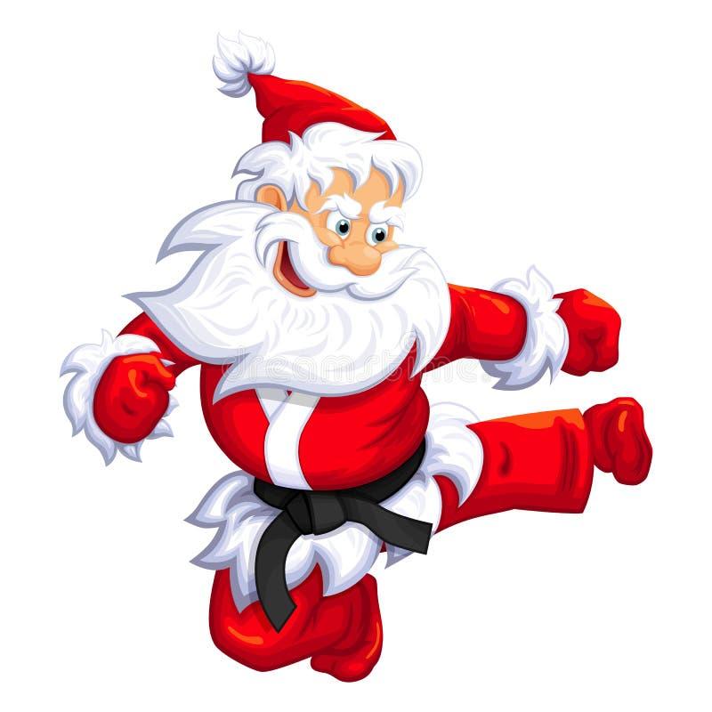 圣诞老人克劳斯跳跃反撞力 库存照片