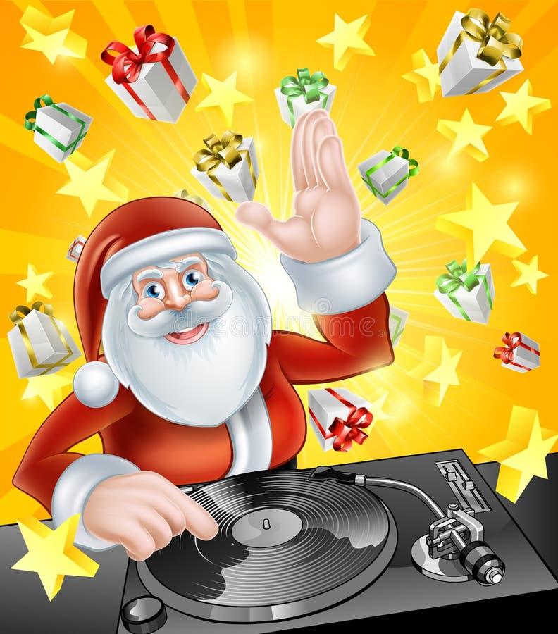 圣诞老人党DJ 皇族释放例证