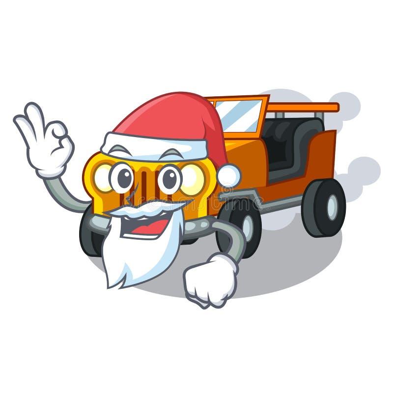圣诞老人吉普在前面赦免的动画片汽车 皇族释放例证