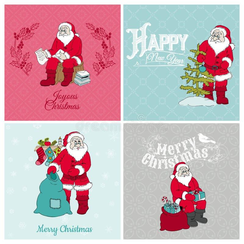 圣诞老人圣诞卡 皇族释放例证