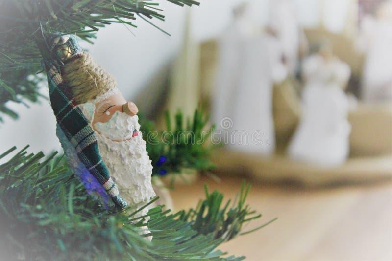 圣诞老人圣诞节装饰品诞生背景 库存图片