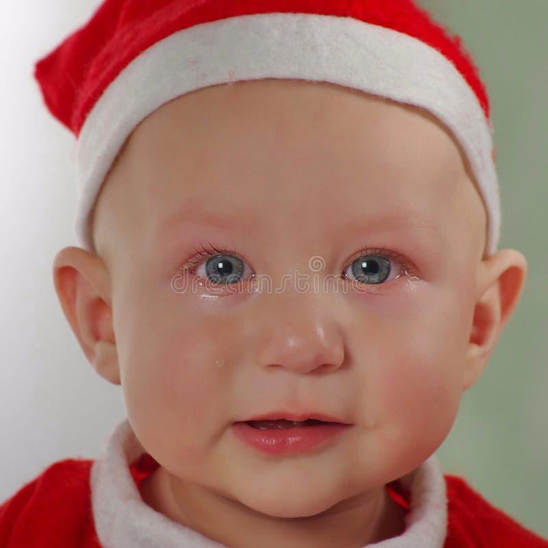 圣诞老人圣诞节婴孩 免版税库存图片