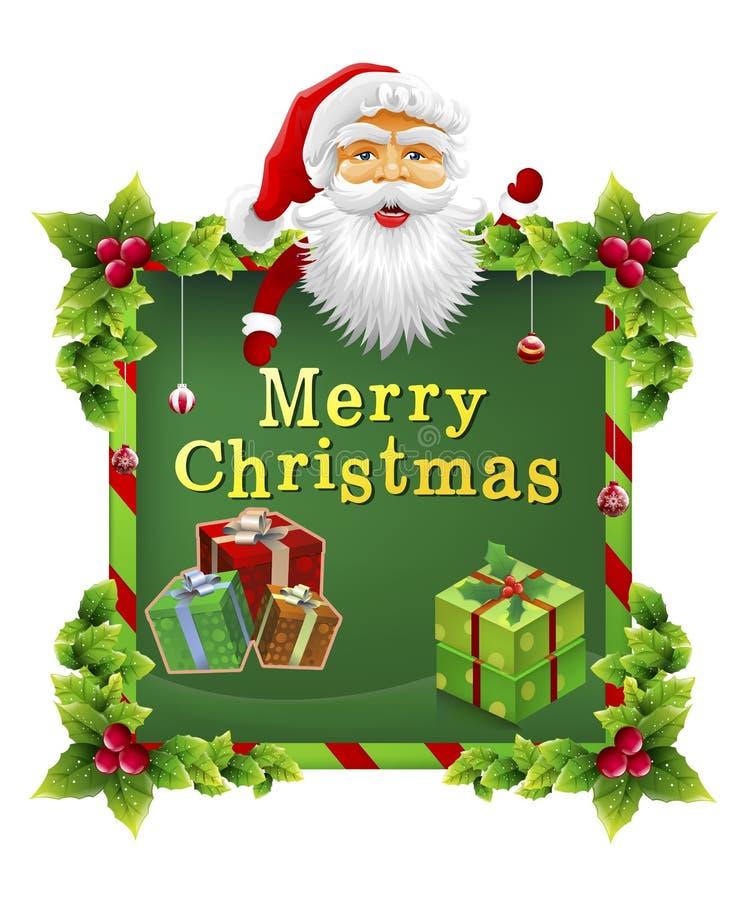 圣诞老人圣诞节 库存例证