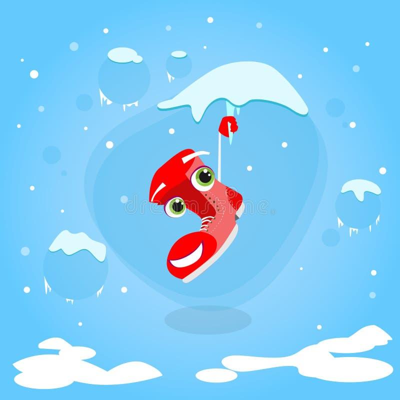 Download 圣诞老人在冰柱动画片圣诞节的起动吊 向量例证. 插画 包括有 boote, 冰柱, 鞋类, 冻结, 现有量 - 62525250