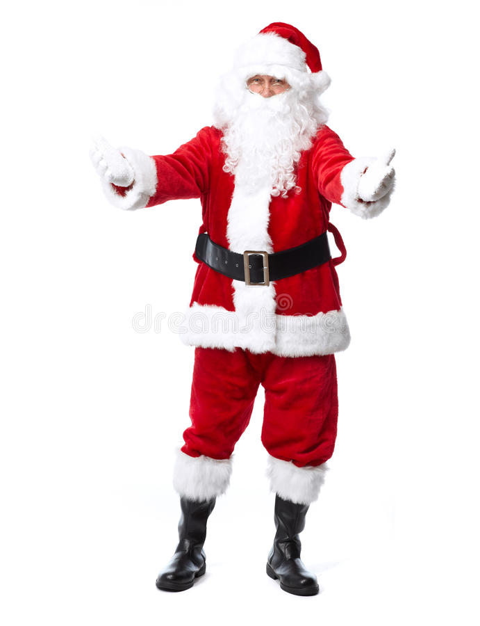 圣诞老人在白色隔绝了。 图库摄影