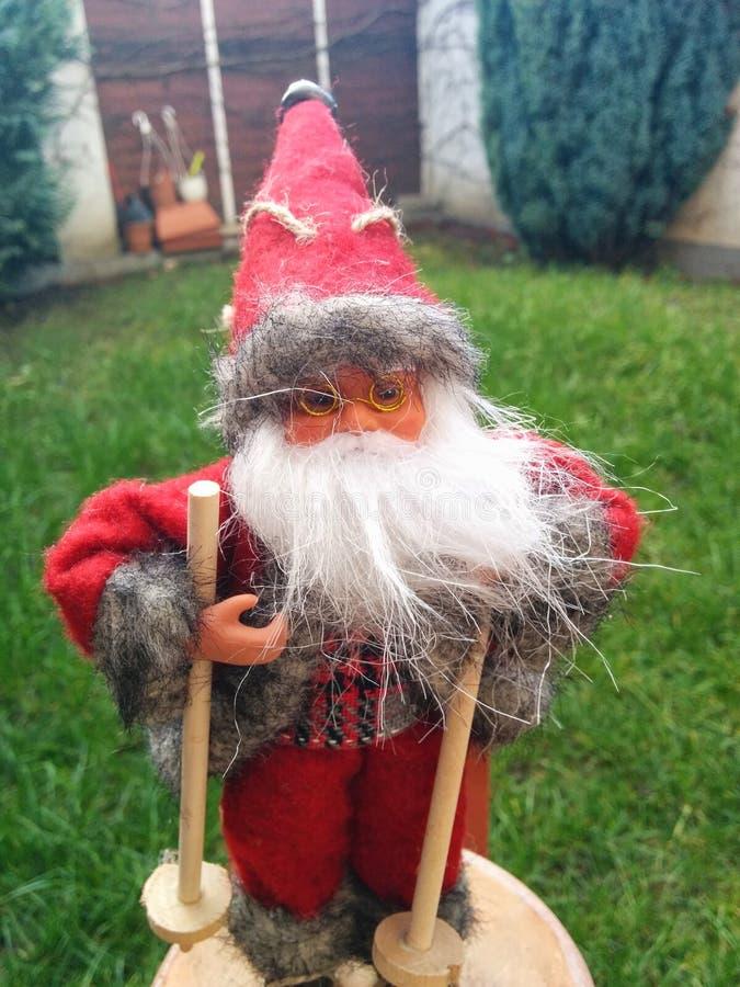 圣诞老人夏天 免版税库存照片
