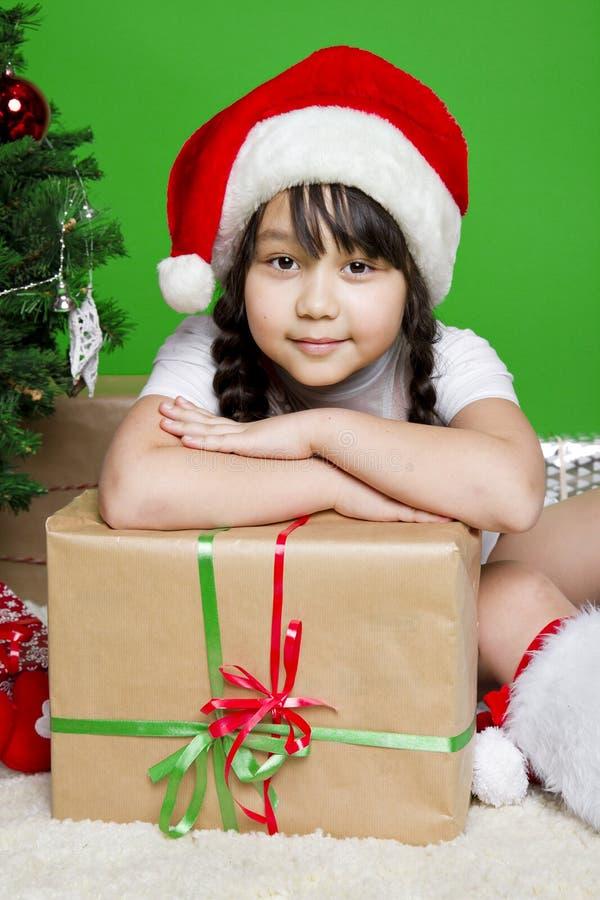 圣诞老人女孩 库存图片