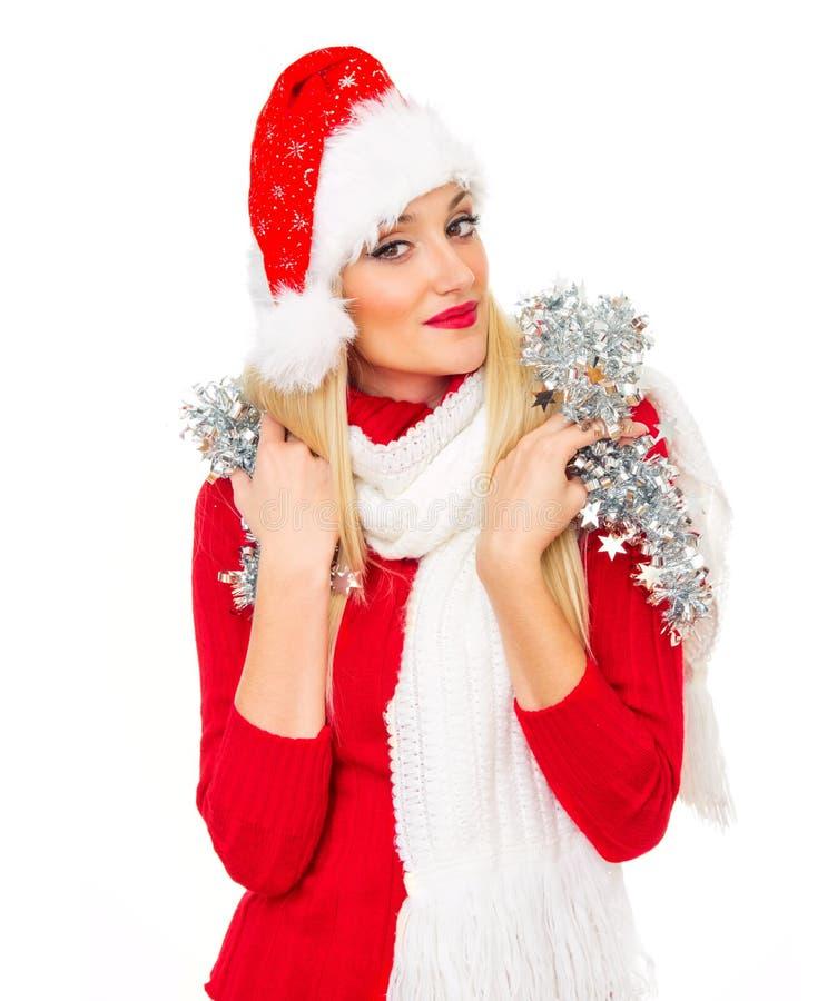 圣诞老人妇女 免版税库存照片