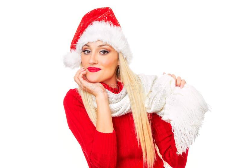 圣诞老人妇女 免版税图库摄影