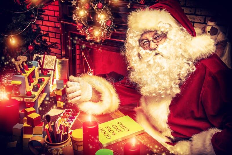 圣诞老人家 库存图片