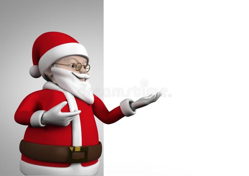 圣诞老人小雕象在圣诞节时间 向量例证