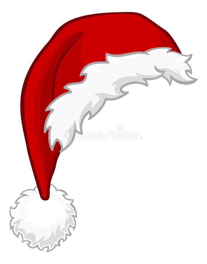 圣诞老人帽子圣诞节动画片设计元素 向量例证