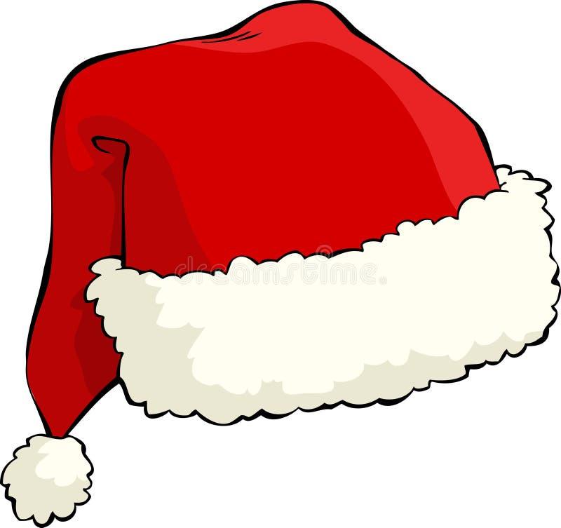圣诞老人帽子 库存例证