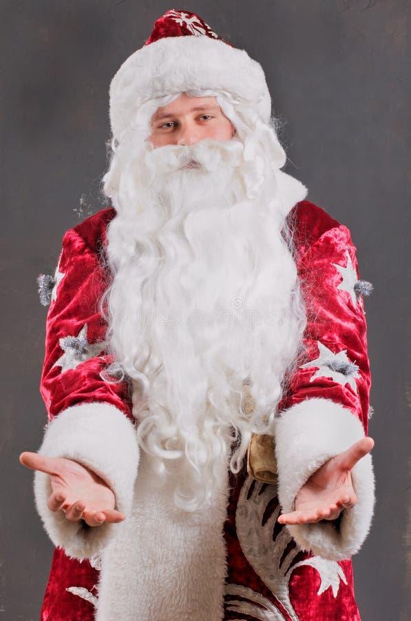 圣诞老人微笑 图库摄影