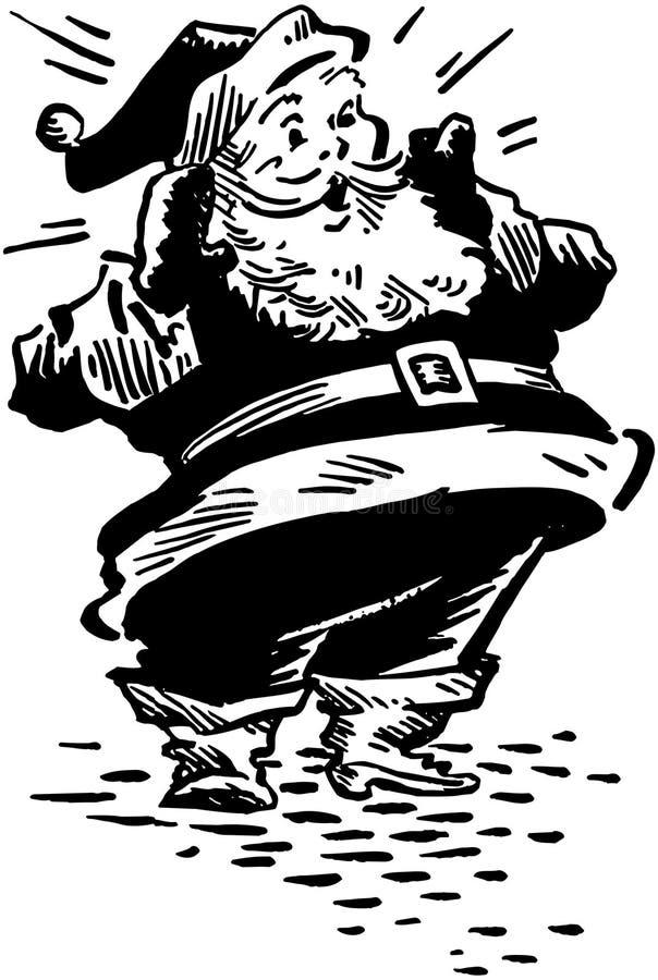 圣诞老人惊奇了 向量例证