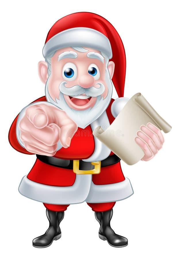 圣诞老人想要您 向量例证