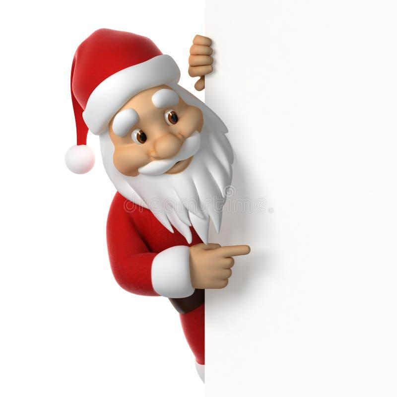 圣诞老人指向 皇族释放例证