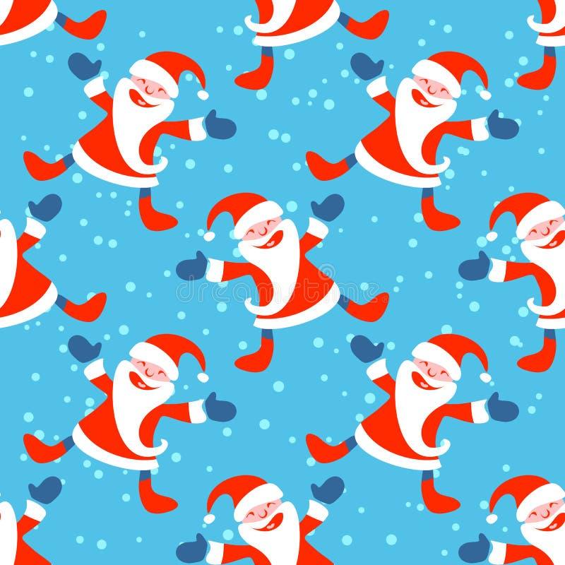 圣诞老人无缝的样式 向量例证