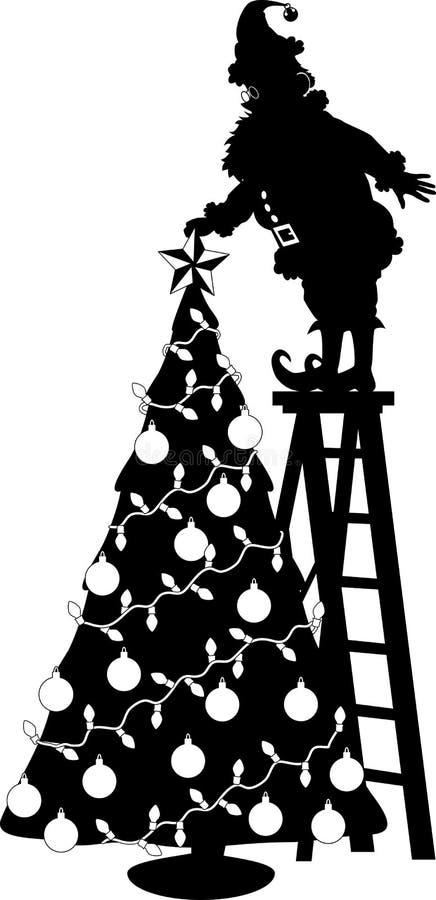 圣诞老人星形 向量例证