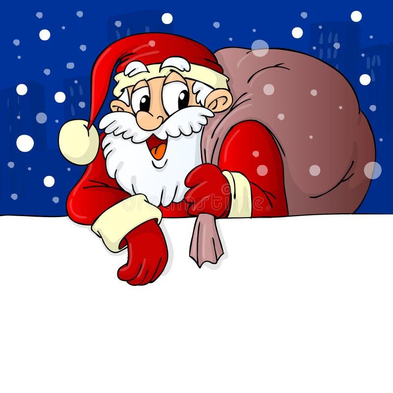圣诞老人有同情心的礼品横幅 库存例证