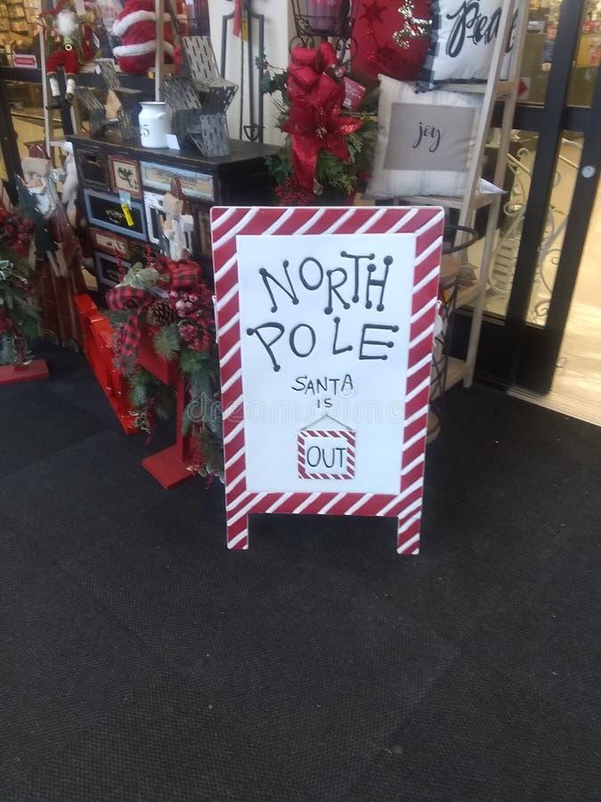 圣诞老人标志 免版税库存图片