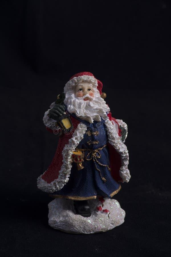 圣诞老人树脂雕象 免版税图库摄影