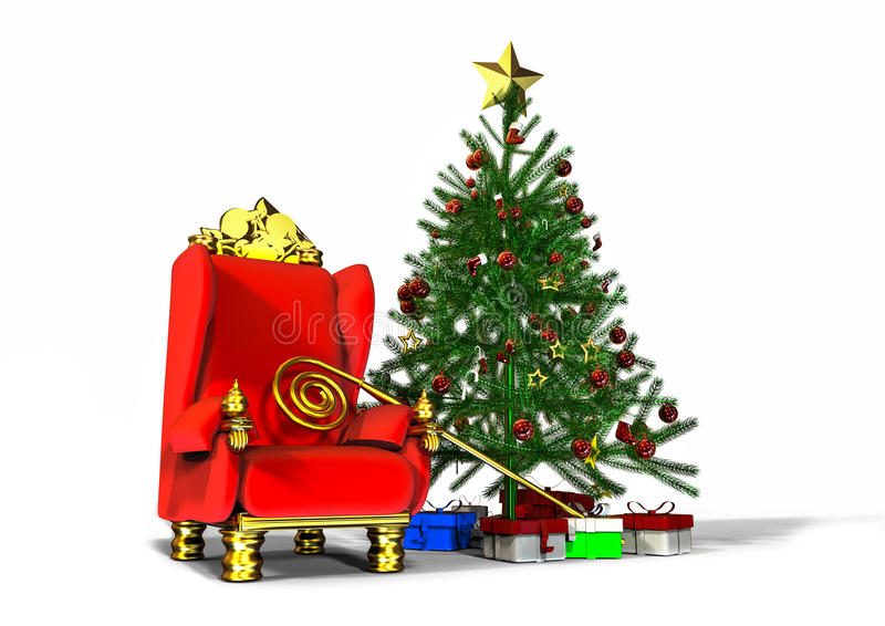 圣诞老人椅子 皇族释放例证