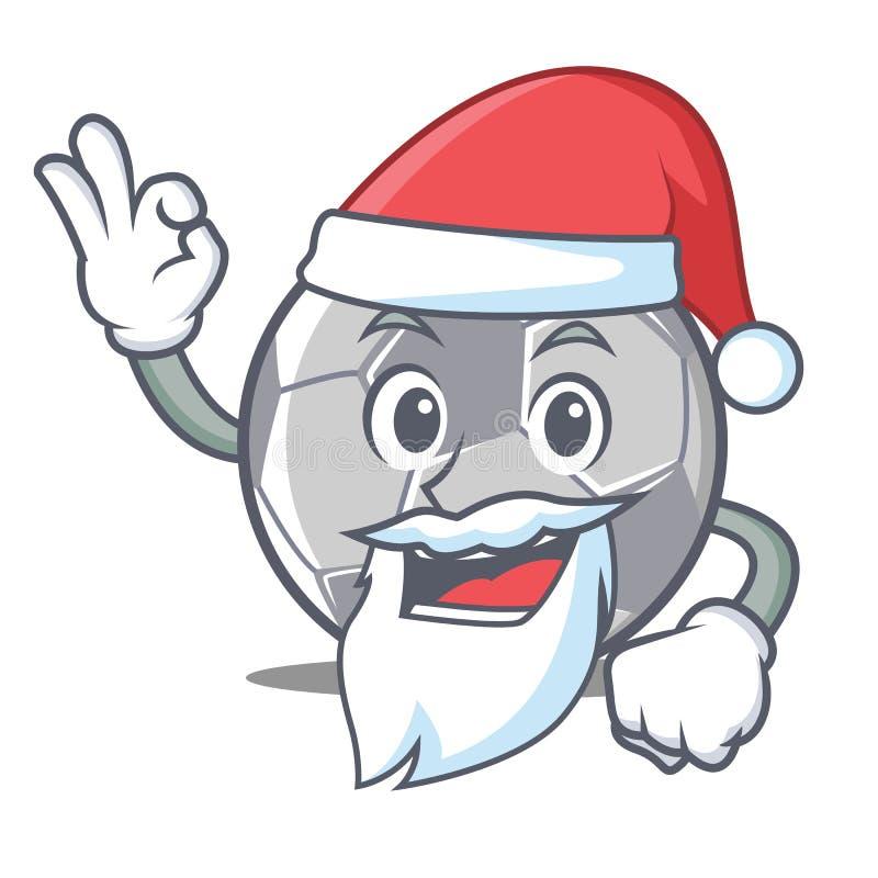 圣诞老人橄榄球字符动画片样式 皇族释放例证