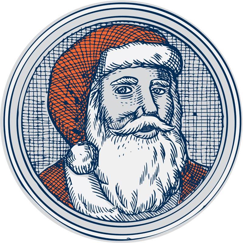 圣诞老人父亲圣诞节葡萄酒蚀刻 皇族释放例证
