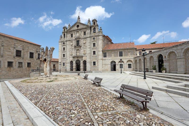 圣诞老人特里萨女修道院在阿维拉,西班牙 免版税图库摄影